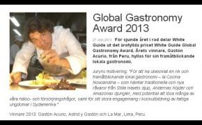 Gaston Acurio Premio Award Gastronomia