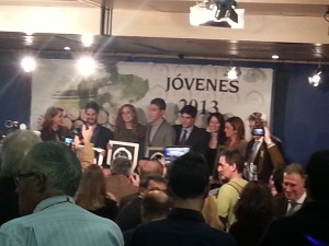 Foto de los Premiados Jovenes Solidarios