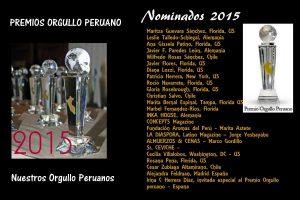 Nominados Premio Orgullo Peruano