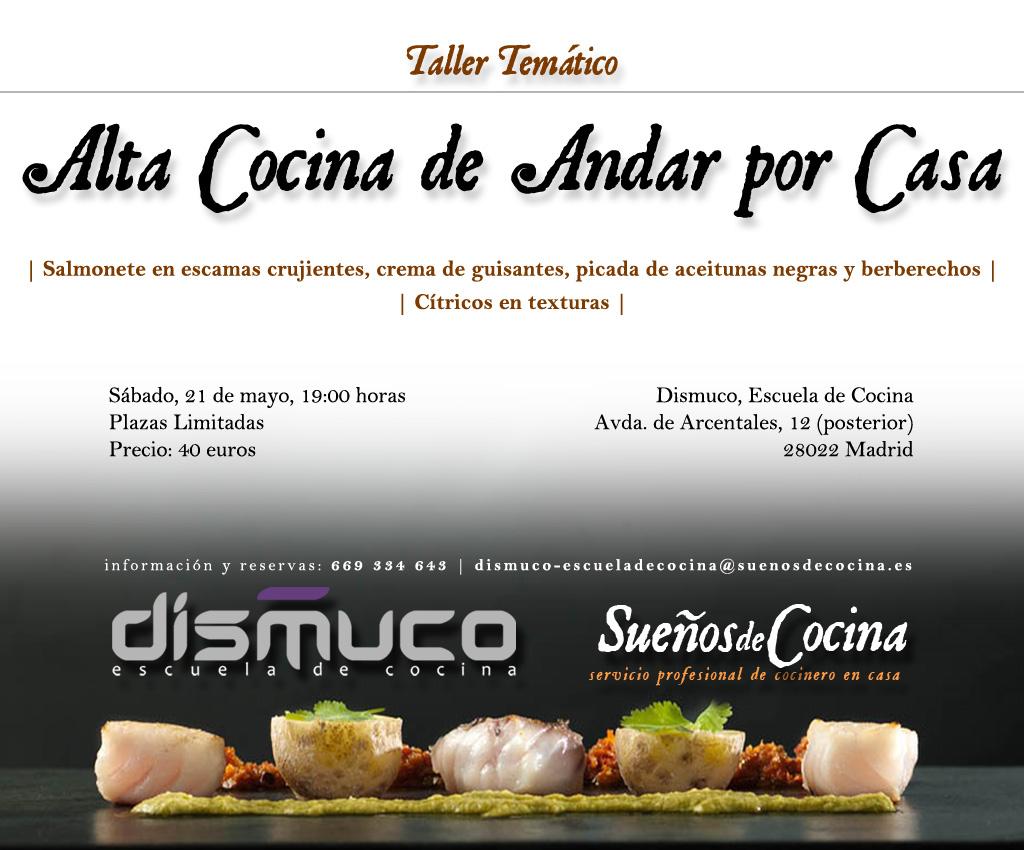 Nacho garbayo nos invita a participar de su taller de alta for Tecnicas de alta cocina
