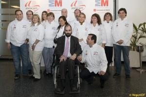Grupo en la Escuela de Hosteleria Madrid junto a Aseacam