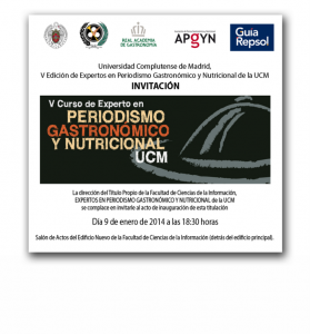 Periodismo Gastronomico y Nutricional