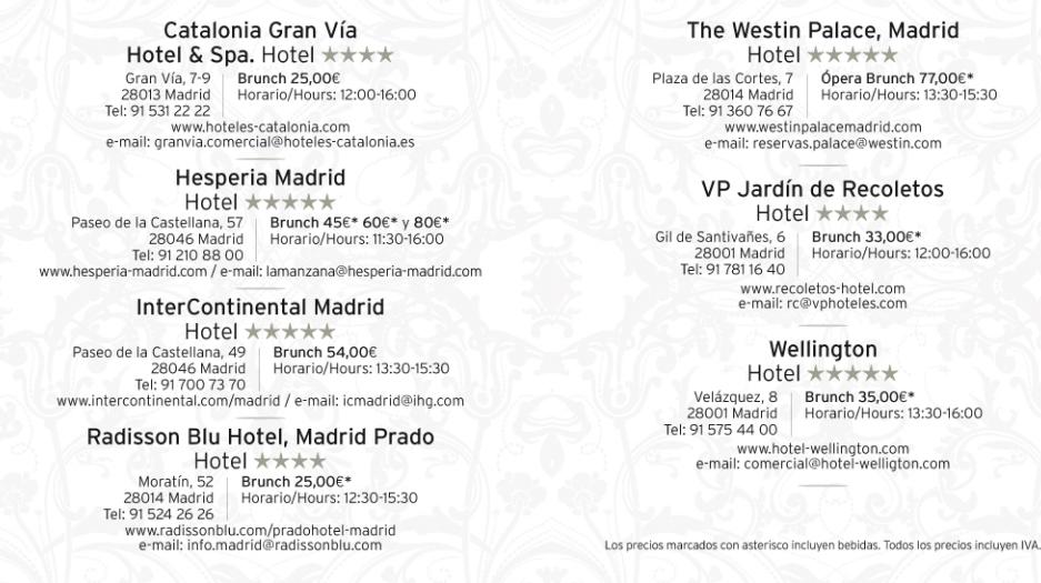 Madrid Brunch Hotel