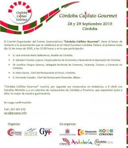 Invitación Córdoba Califato Gourmet