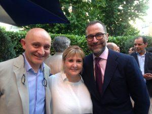 Embajador de EEUU y  José Polo del Restaurante Atrio