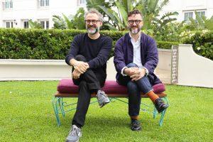 Massimo Botura y Fernando Trocca en la conferencia de prensa de HSBC
